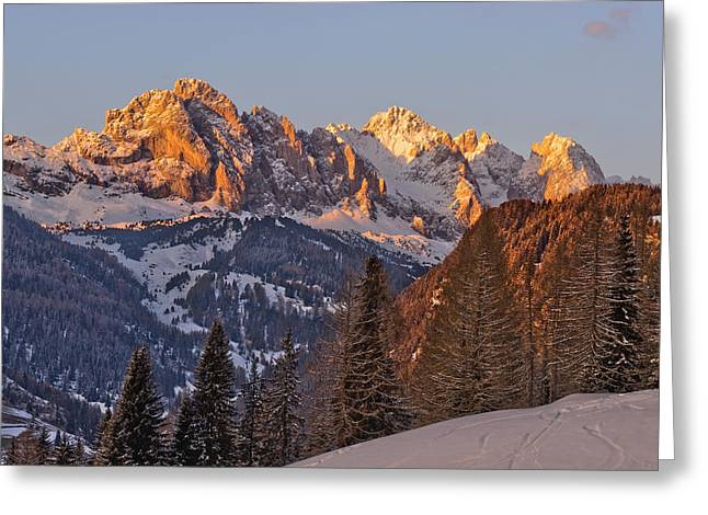Snowy Evening Greeting Cards - Evening in the Alps Greeting Card by Martin Capek
