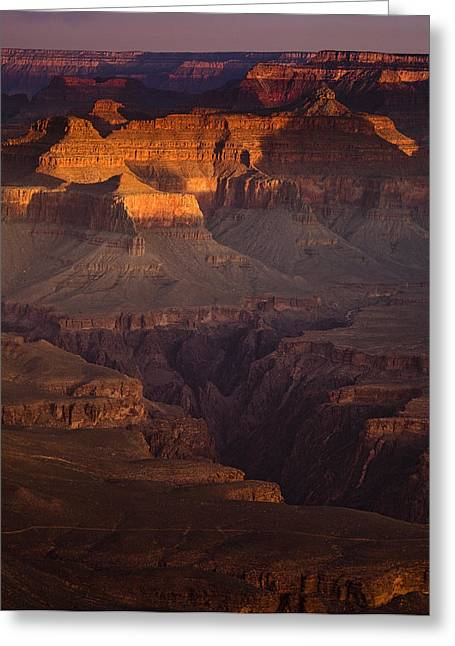 Dawn Greeting Cards - Evening in the Canyon Greeting Card by Andrew Soundarajan