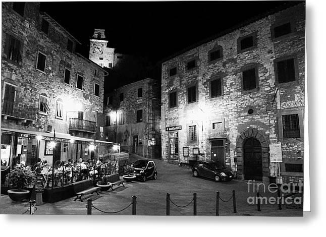 Bella Vita Greeting Cards - Evening in Tuscany Greeting Card by Ramona Matei