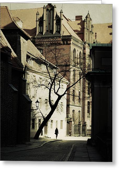 Evening In Wroclaw Greeting Card by Cambion Art