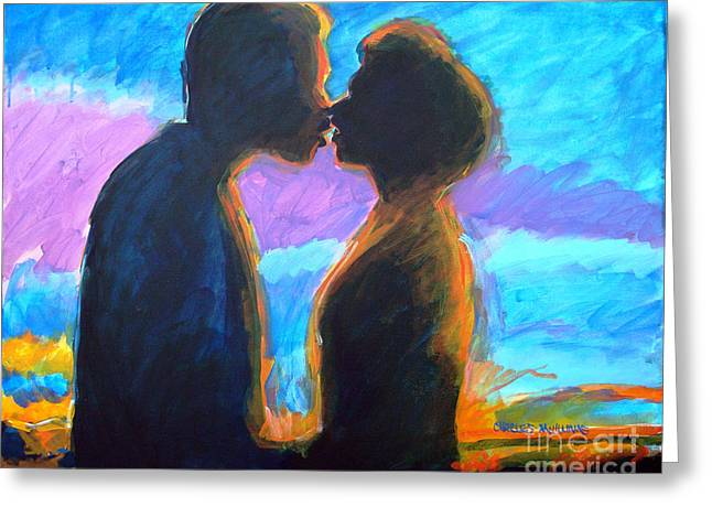 Female Body Greeting Cards - Evening Kiss Greeting Card by Charles M Williams