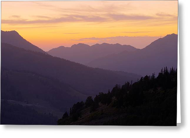 Warm Tones Photographs Greeting Cards - Evening Layers Greeting Card by Chad Dutson