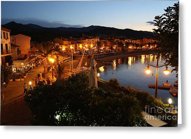 Southern France Greeting Cards - Evening Light in Collioure Greeting Card by Carol Groenen
