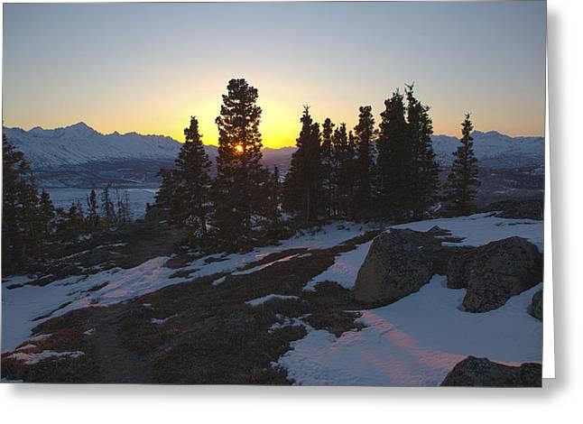 Matanuska Greeting Cards - Evening Light on a Mountain Ridge Greeting Card by Tim Grams