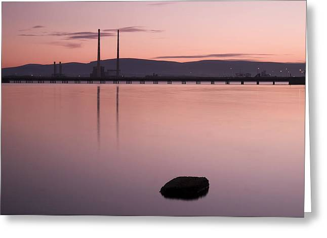 Recently Sold -  - Bay Bridge Greeting Cards - Evening Light on Dublin Bay Greeting Card by Gerard McGrath