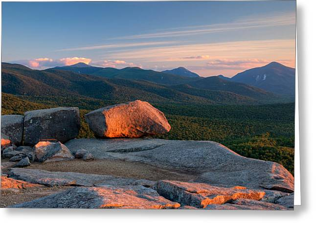 Adirondack Park Greeting Cards - Evening Light On The Balanced Rocks Greeting Card by Panoramic Images