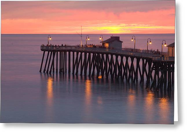 California Beach Greeting Cards - Evening Light San Clemente Greeting Card by Cliff Wassmann