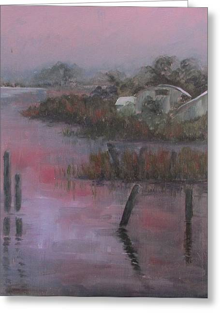 Apalachicola Seafood Greeting Cards - Evening Light Greeting Card by Susan Richardson