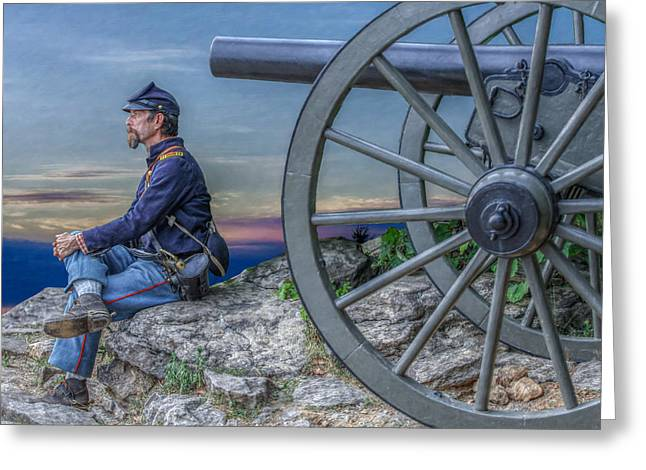 Recently Sold -  - Fineartamerica Greeting Cards - Evening on Little Round Top Greeting Card by Randy Steele