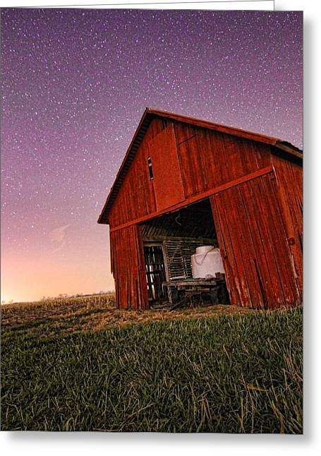 Farmers Field Greeting Cards - Evening On The Farm Greeting Card by Dan Sproul