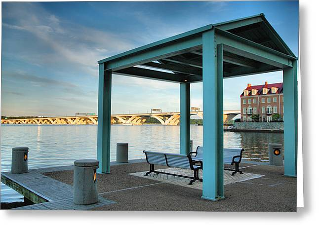 River Prints Greeting Cards - Evening On The Potomac I Greeting Card by Steven Ainsworth