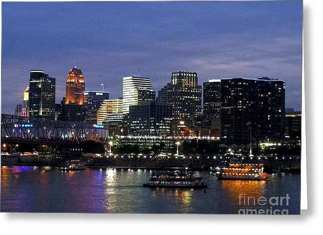 Evening On The River Greeting Card by Mel Steinhauer