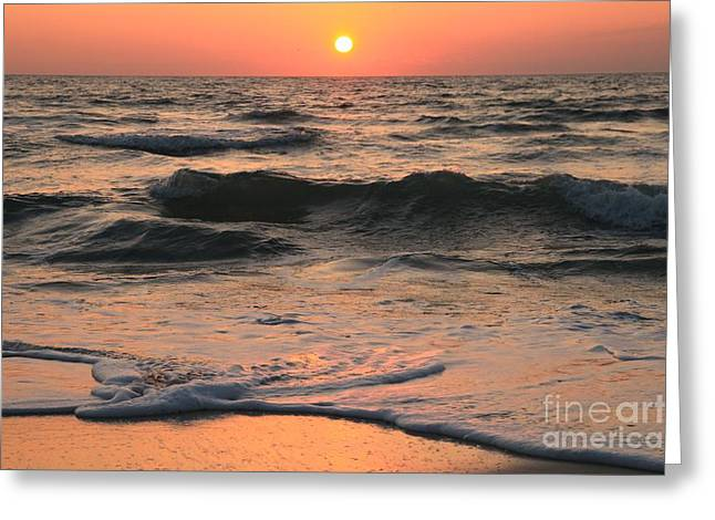 Pristine Beaches Greeting Cards - Evening Pastels Greeting Card by Adam Jewell