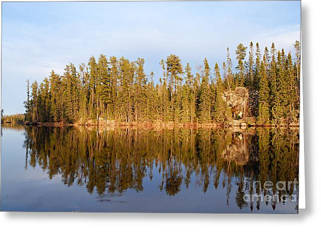 Evening Reflections On Snipe Lake 21 Greeting Card by Larry Ricker