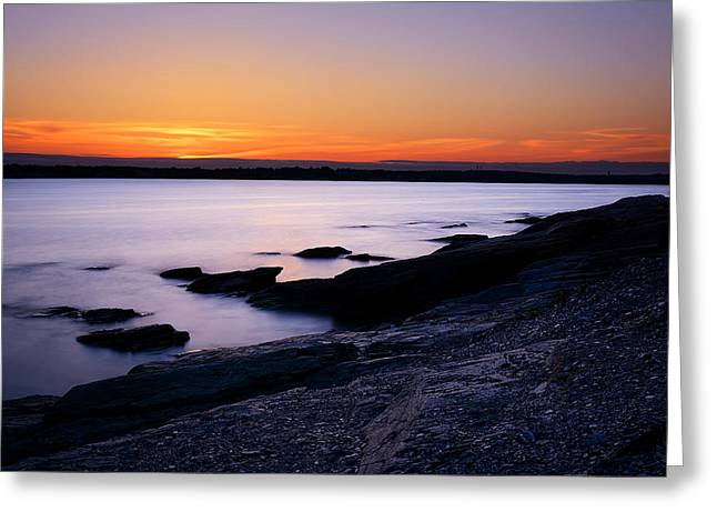 New England Ocean Greeting Cards - Evening Repose Greeting Card by Lourry Legarde