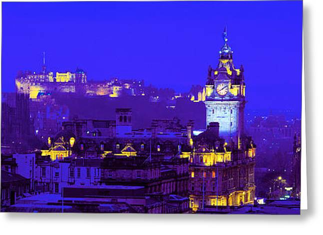 Royalty Greeting Cards - Evening, Royal Castle, Edinburgh Greeting Card by Panoramic Images