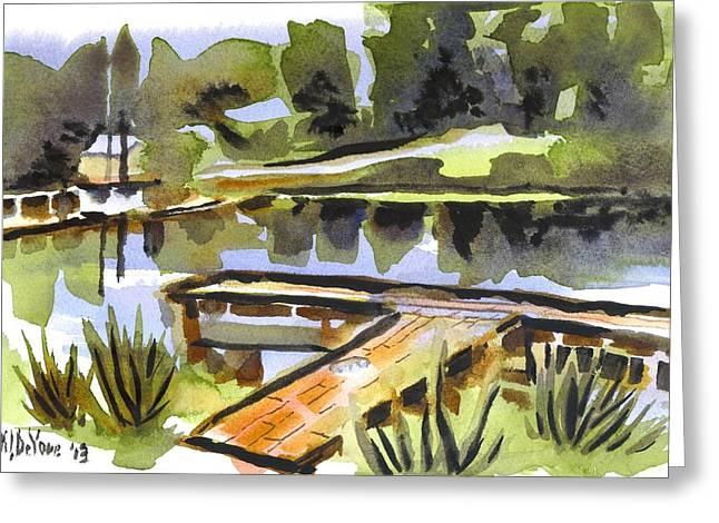 Natural Dam Greeting Cards - Evening Shadows at Shepherd Mountain Lake Greeting Card by Kip DeVore
