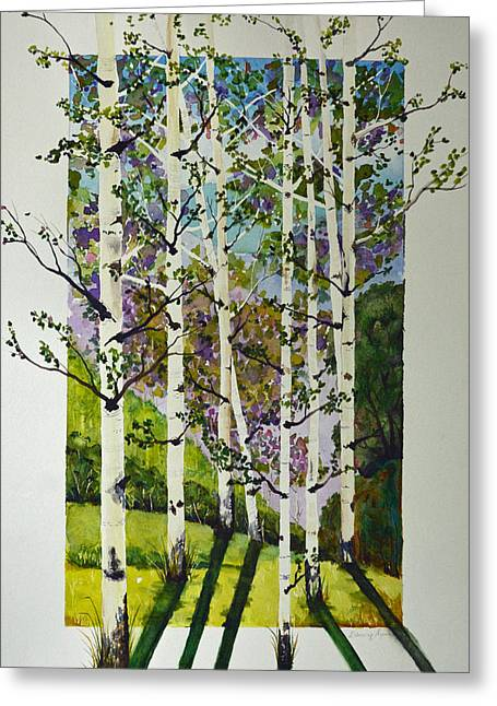 Quaker Paintings Greeting Cards - Evening Shadows Greeting Card by Terri Robertson