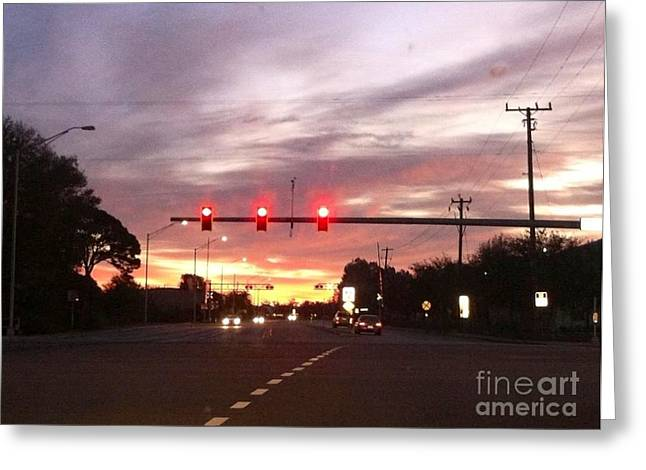 Paradise Road Greeting Cards - Evening Sky Greeting Card by Melissa Darnell Glowacki