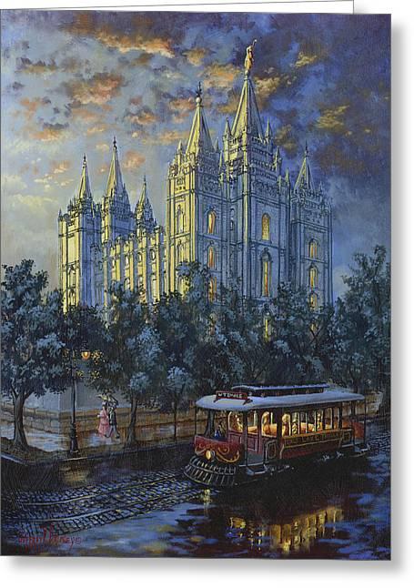 Jeffrey V. Brimley Greeting Cards - Evening Solace Greeting Card by Jeff Brimley