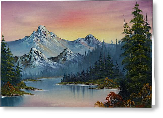 Best Sellers -  - Bob Ross Paintings Greeting Cards - Evening Splendor Greeting Card by C Steele