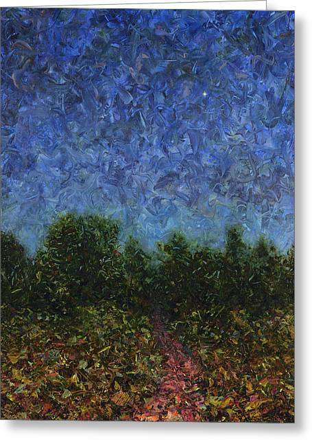 Mysterious Greeting Cards - Evening Star Greeting Card by James W Johnson