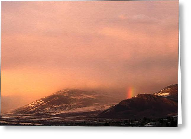 Winter Storm Greeting Cards - Evening Storm Greeting Card by Kathy Bassett