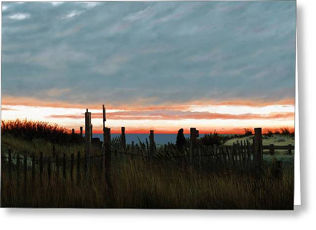 Photo-realism Greeting Cards - Evening Sunset In Yarmouth Cape Cod Greeting Card by Douglas Auld