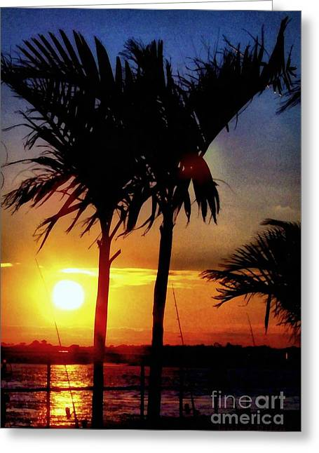 Evening Surf Greeting Card by Janine Riley