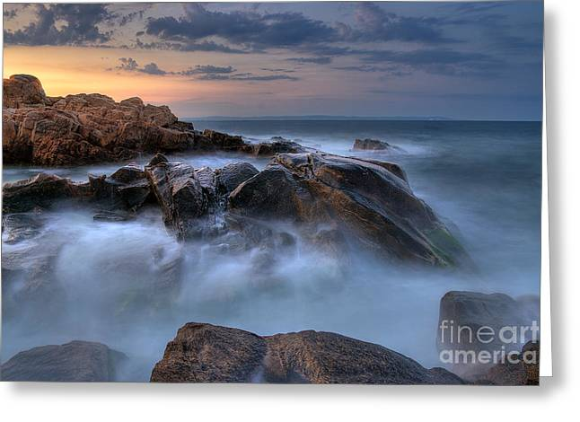 Bulgaria Mixed Media Greeting Cards - Evening tides ... Greeting Card by Stefan Stefanov