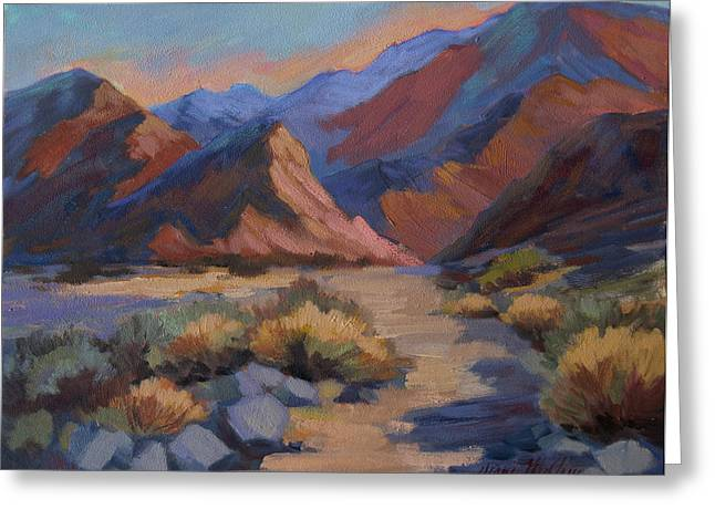 La Quinta Greeting Cards - Evening Walk in La Quinta Cove Greeting Card by Diane McClary