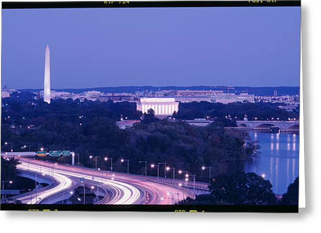 Roadway Greeting Cards - Evening Washington Dc Greeting Card by Panoramic Images