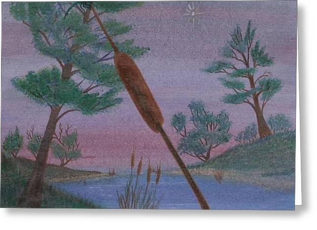 evening wish Greeting Card by Robert Meszaros