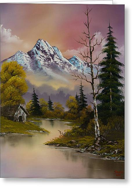 Bob Ross Paintings Greeting Cards - Evenings Delight Greeting Card by C Steele