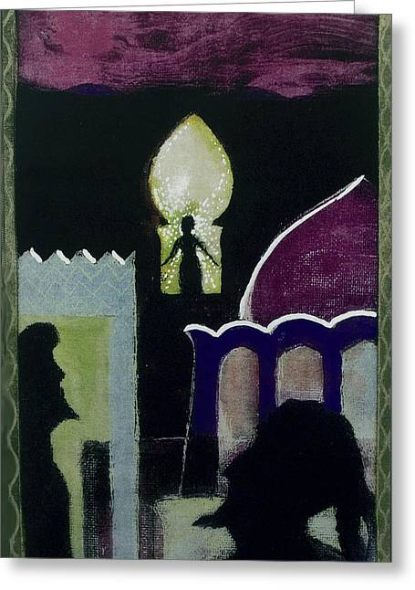Fushia Mixed Media Greeting Cards - Evensong Greeting Card by Walter Clark