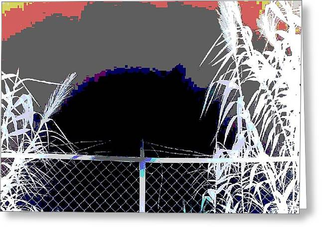 Barbed Wire Fences Mixed Media Greeting Cards - Pixels On The Bent Horizon  Greeting Card by Gustave Kurz