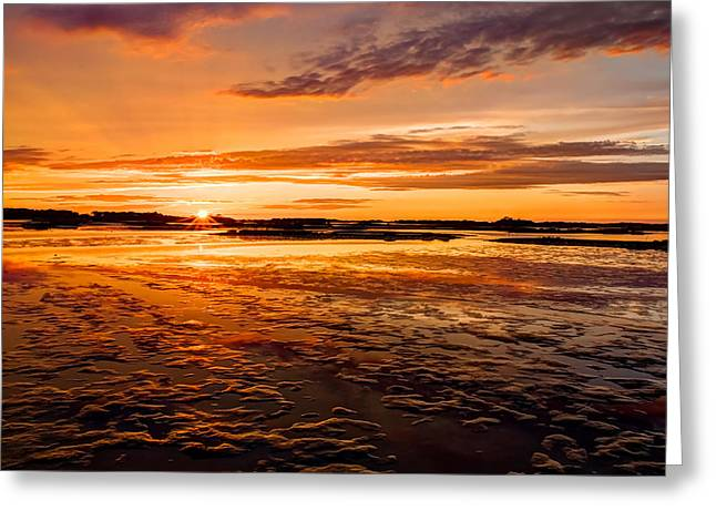 Cedar Key Greeting Cards - Eventide at Cedar Key Greeting Card by John Bailey