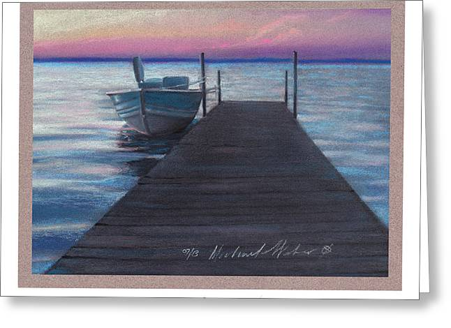 Dock Pastels Greeting Cards - Eventide Greeting Card by Michael  Weber