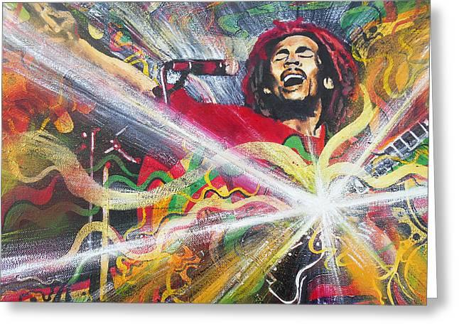 Bob Marley Artwork Greeting Cards - Ever Living 2 Greeting Card by Kevin J Cooper Artwork