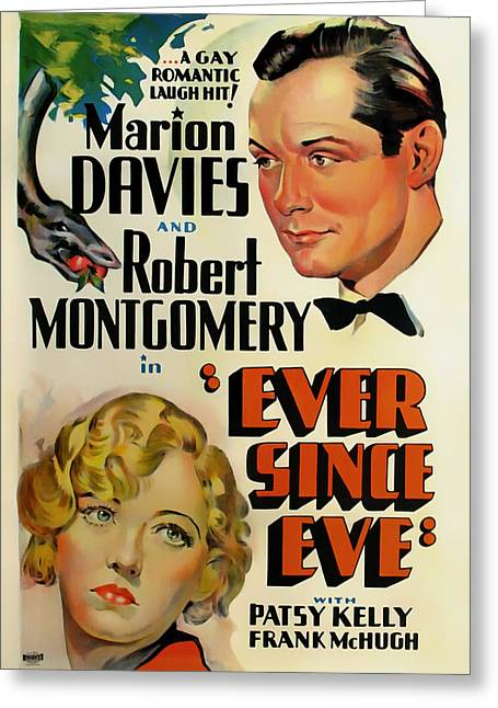 Ever Since Eve Movie Poster 1937 Greeting Card by Mountain Dreams