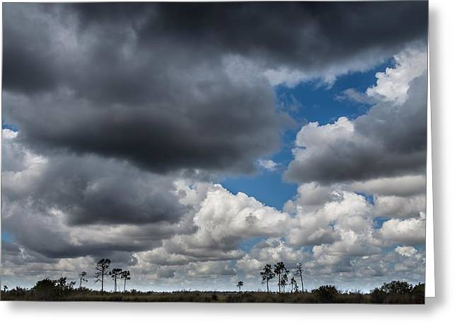 Reflections In River Greeting Cards - Everglades clouds 6873 Greeting Card by Rudy Umans
