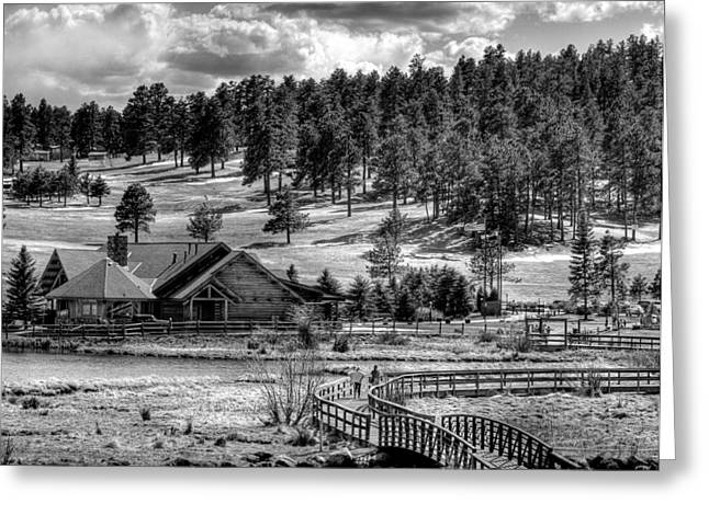 Evergreen Lake House Fall Greeting Card by Ron White