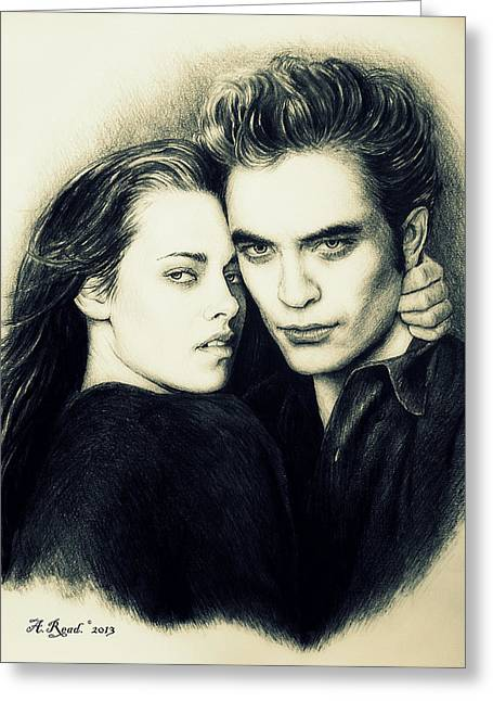Kristen Stewart Greeting Cards - Everlasting ghostly version Greeting Card by Andrew Read