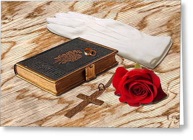 Religious Images Greeting Cards - Everlasting Love Greeting Card by Gill Billington