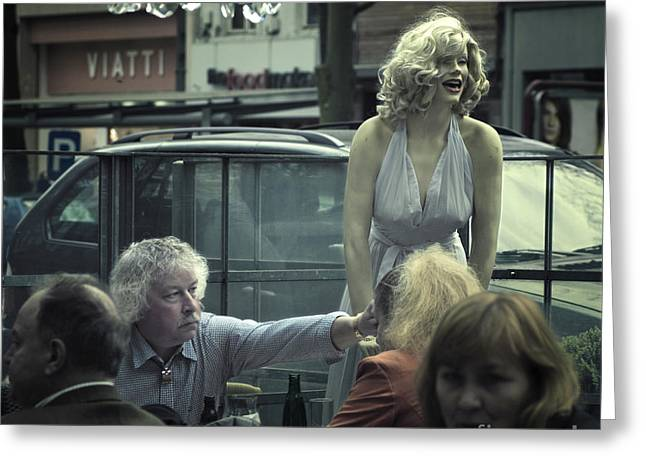 Streetphotography Greeting Cards - Everlasting pose Greeting Card by Michel Verhoef