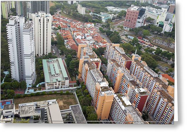 Everton Park Housing Estate Aerial View Greeting Card by JPLDesigns