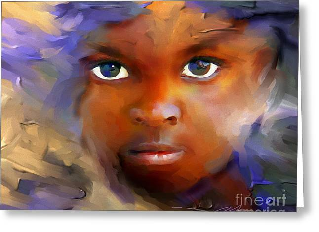 Head Digital Art Greeting Cards - Every Child Greeting Card by Bob Salo