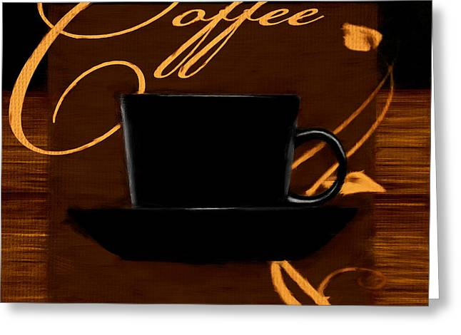 Downtown Cafe Greeting Cards - Every Cup Matters Greeting Card by Lourry Legarde