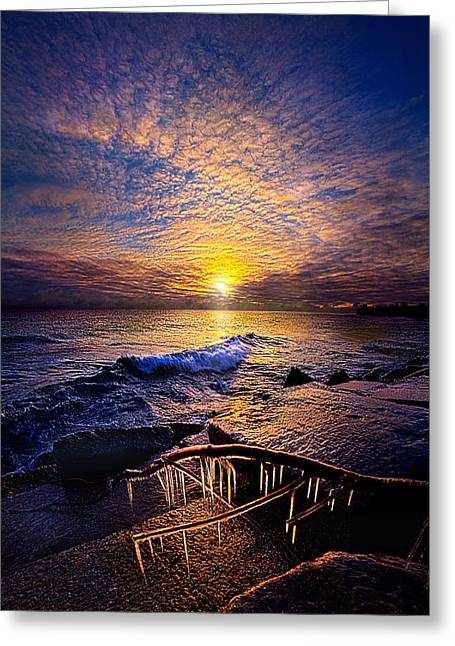 Bluesky Greeting Cards - Every Day Is A Gift Not A Given Greeting Card by Phil Koch