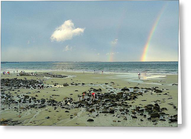 Double Rainbow Digital Art Greeting Cards - Every Day Is A New Day Greeting Card by David Schneider